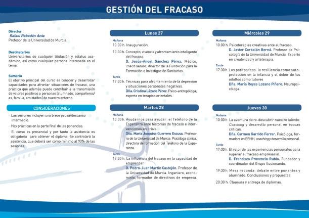 GESTION DEL FRACASO